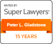 Peter L Gladstone Super Lawyers for 15 Years